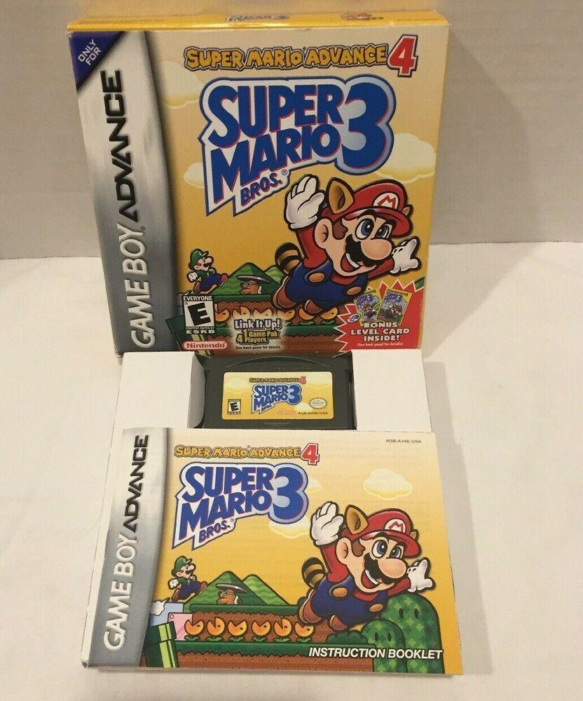 Gba Super Mario Advance 4 Super Mario Bros 3 Nintendo Game Boy Advance Nintendo Gameboy Vintage Video Games Nintendo Game Boy Advance