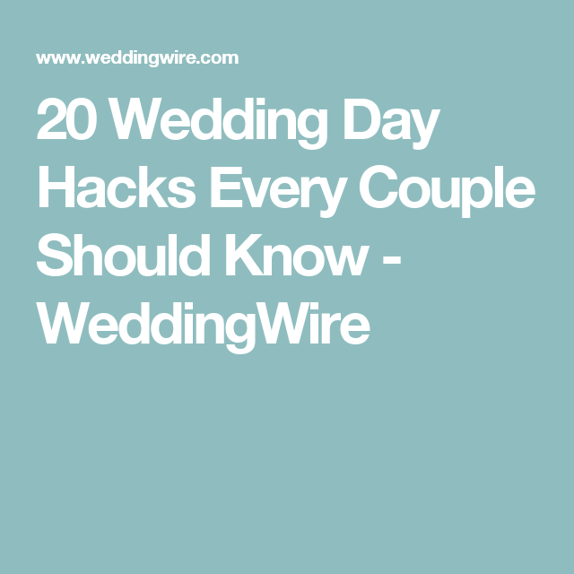 20 wedding day hacks every couple should know couples weddings 20 wedding day hacks every couple should know junglespirit Gallery