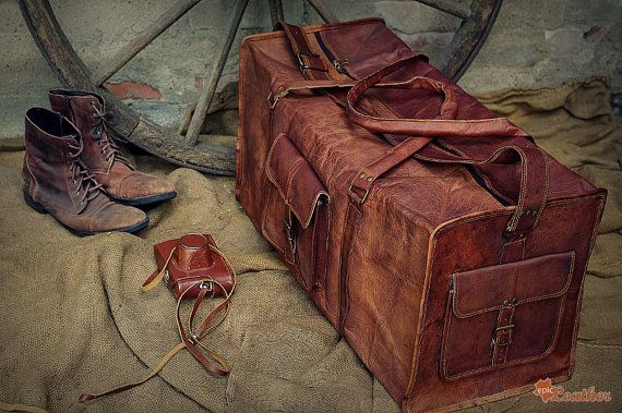 a3ced8351f93 Leather Travel Bag 28   Leather Duffle Bag   Leather by EpicLinen ...