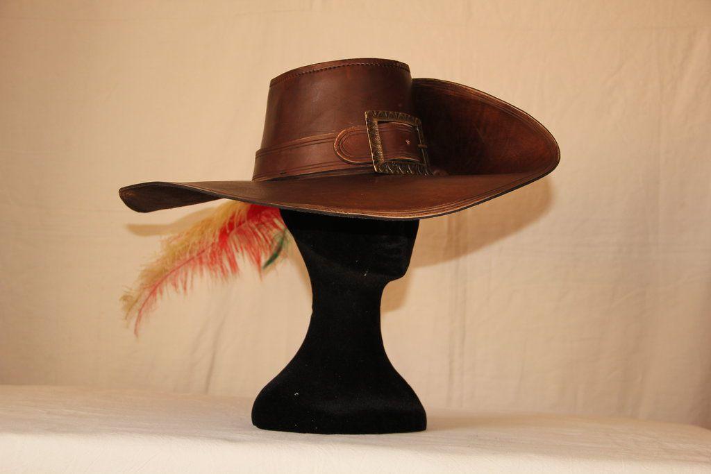 Leather musketeer hat by HamraBDG on DeviantArt  5866a2c7c1e