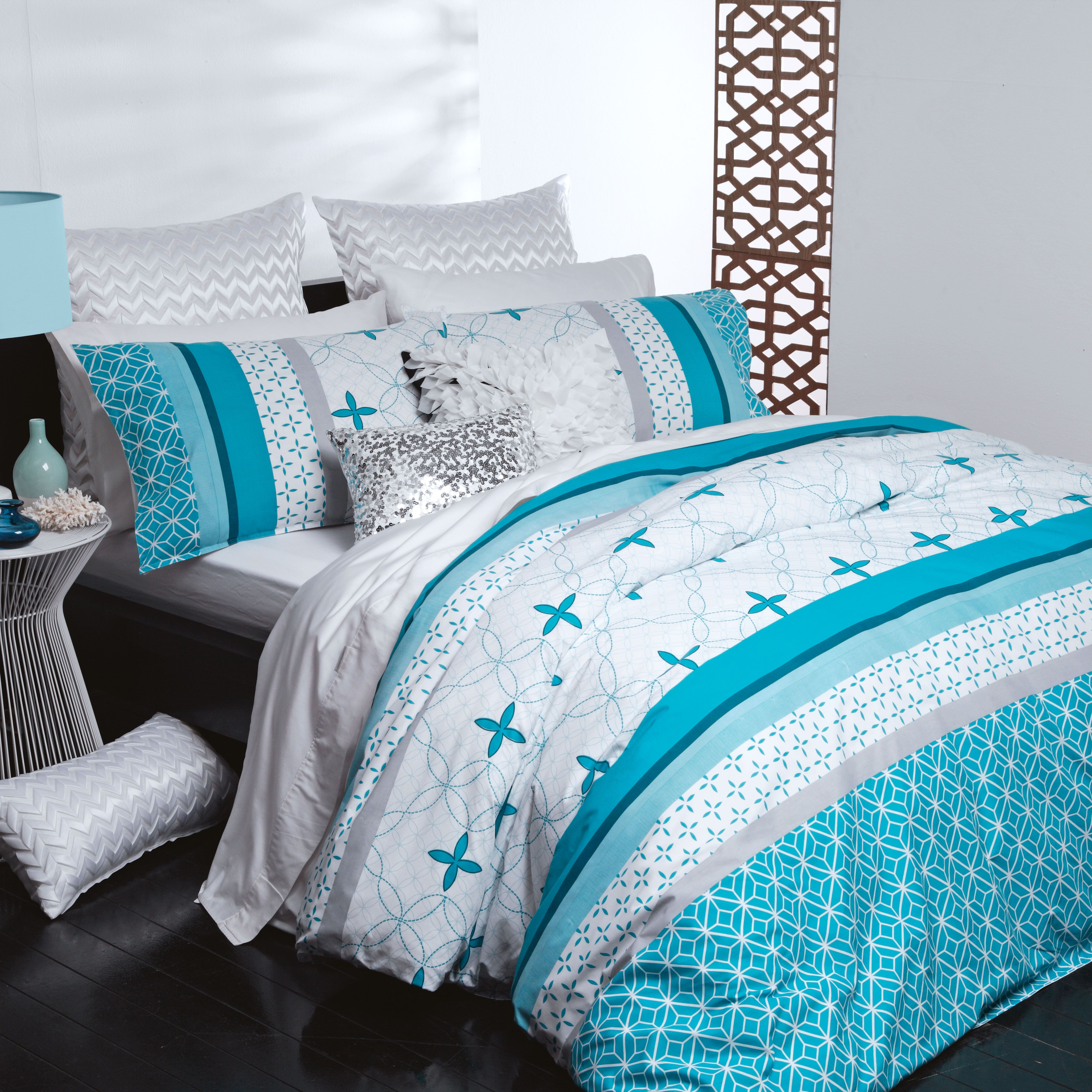 Harvey Norman Kira Teal Duvet Cover Set By Casual Living