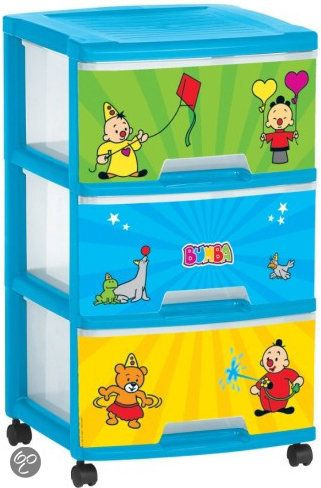 6ed68af51f Studio 100 Ladenkast bumba met 3 laden van 20 liter