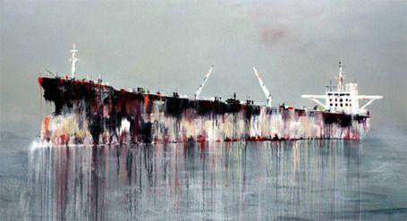 The #industrial Sublime. Anne Penman Sweet #paintings #ship | art et machines | Scoop.it