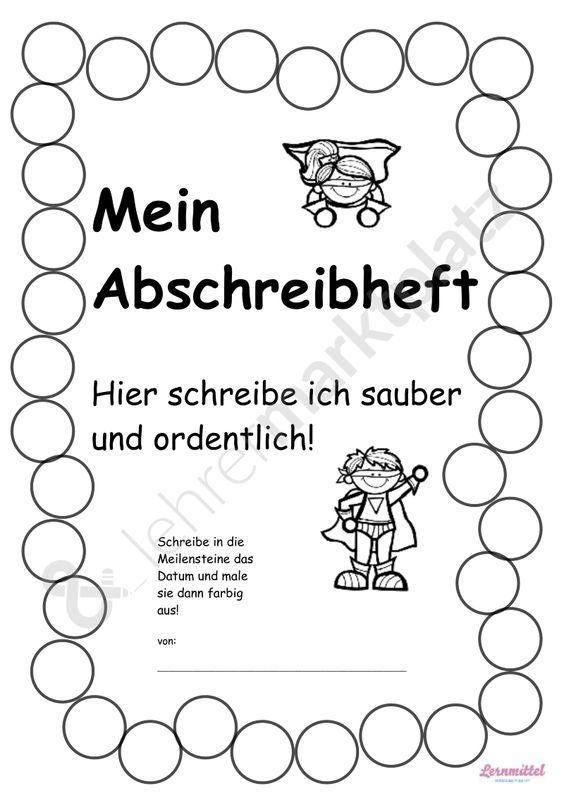 Mein Abschreibheft - Abschreibtraining ab Klasse 1 bis 3 Deutsch ...
