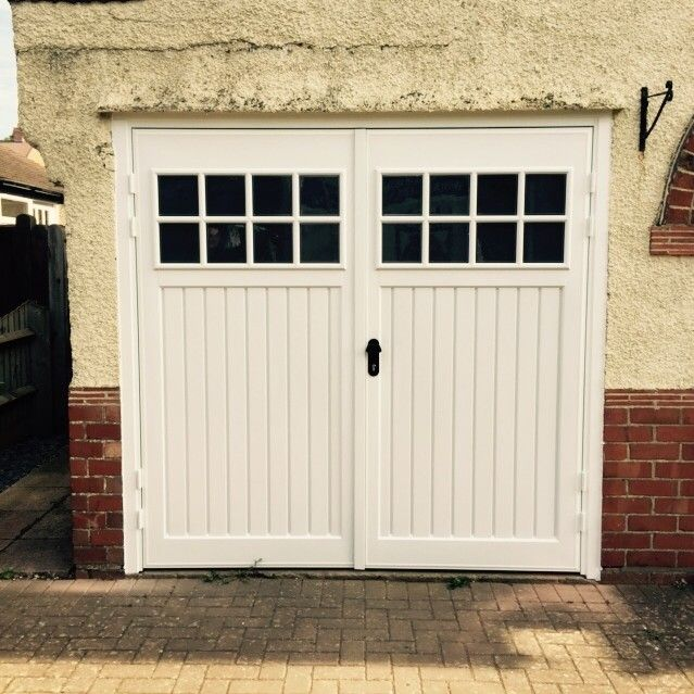 Role Of Garage Door In Garage Design: Abs Side Hinged Garage Door, Bedford Design, With Windows