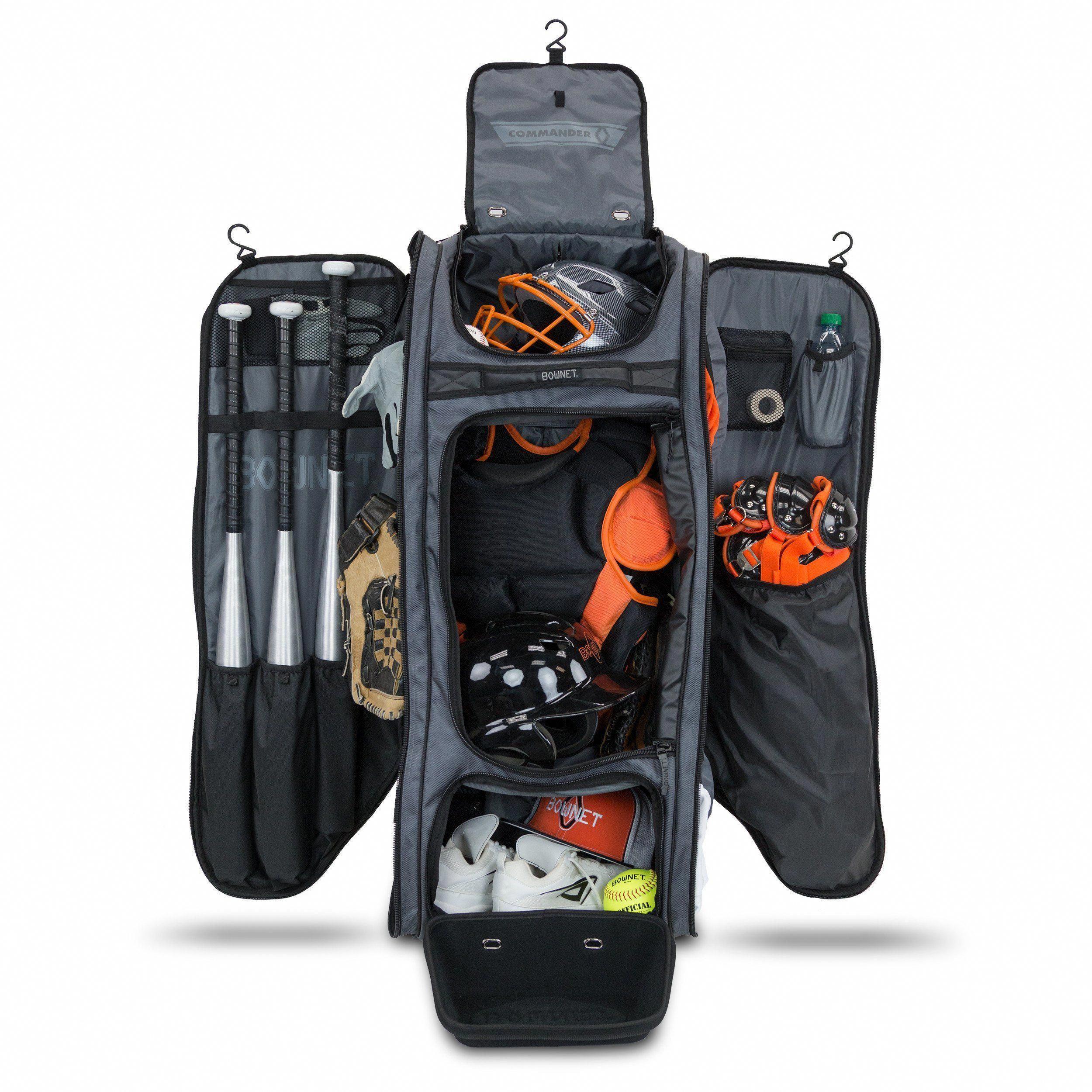 The Commander Catcher's Bag Softball bags, Softball bat
