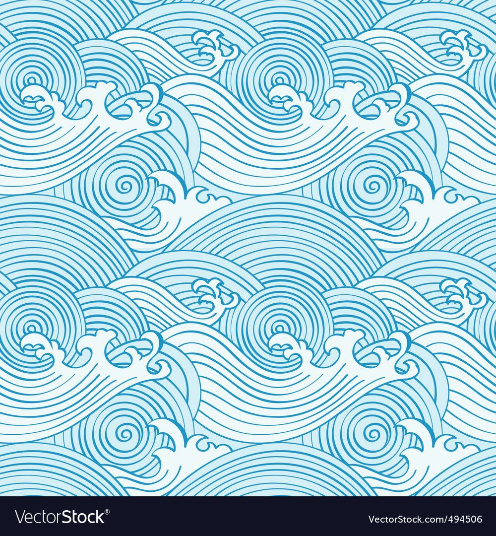 Japanese seamless waves vector image on VectorStock   Wave ...