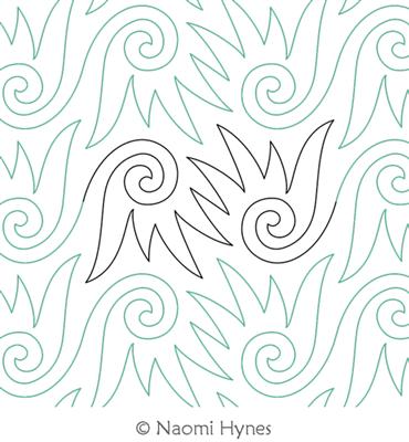 Digital Quilting Design Penny Banger Pantograph by Naomi Hynes ... : digital quilting designs free - Adamdwight.com