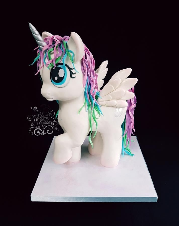 My Little Unicorn Pony by GoshCakes #littleunicorn