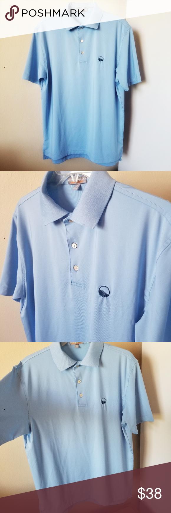 Peter Millar Summer Comfort Blue Polo Shirt Blue polo