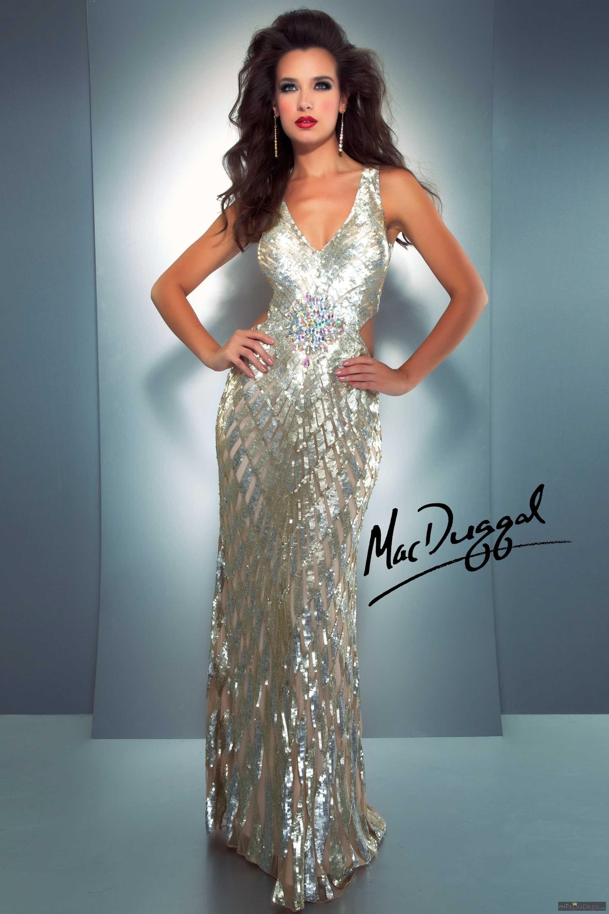 Mac Duggal Style 3738A - Stunning sequin floor length evening gown ...