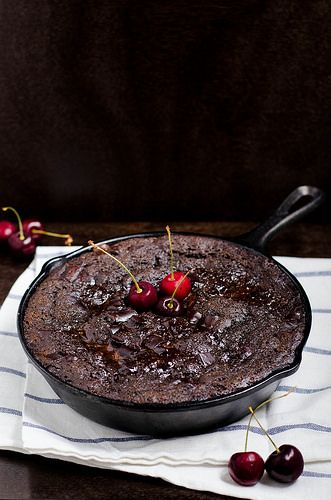 Chocolate Cherry Pudding Cake (Gluten Free) | cooking ala mel by cookingalamel, via Flickr