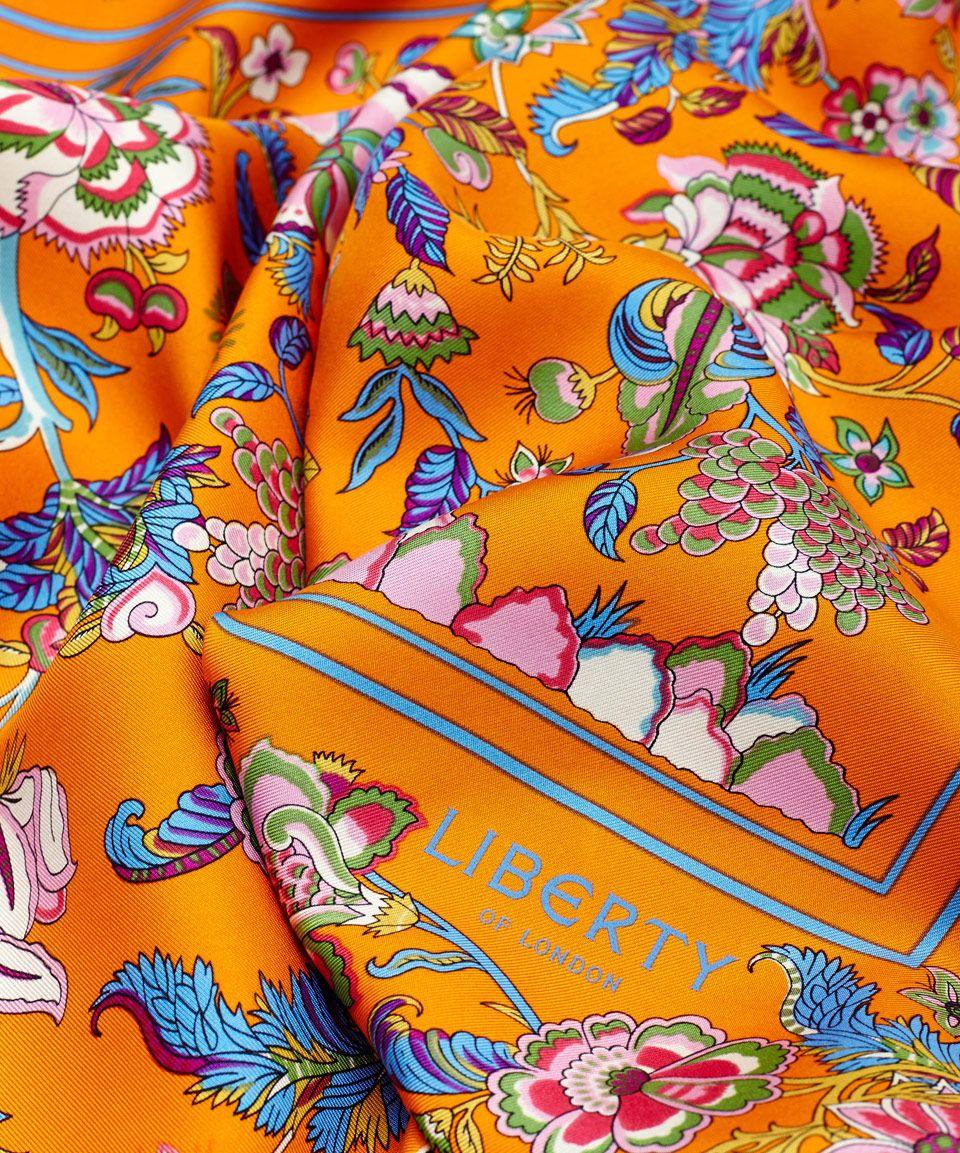 5671e26ff Liberty London Orange Tree of Life Silk Scarf | Silk Scarves by Liberty  London | Liberty.co.uk
