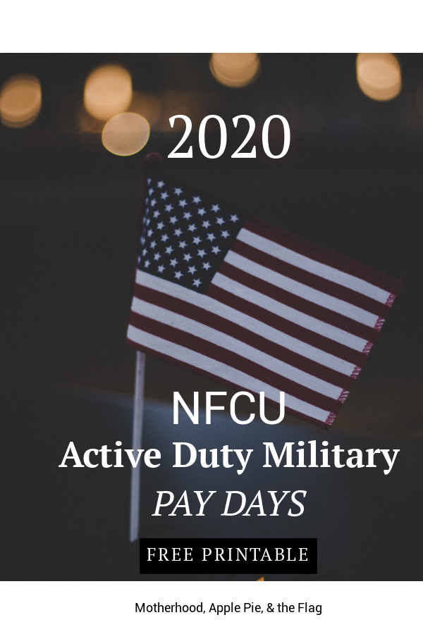 2020 Navy Federal Military Pay Dates Motherhood Apple Pie The Flag In 2020 Military Pay Navy Federal Credit Union Payday