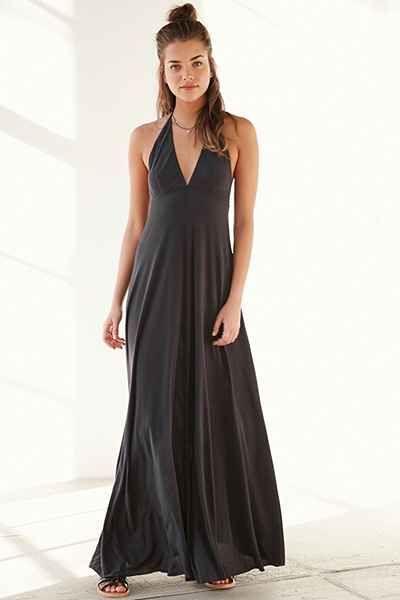 Kimchi Blue Magnolia Cupro Maxi Halter Dress Urban Outfitters Urban Dresses Dresses Maxi Dress