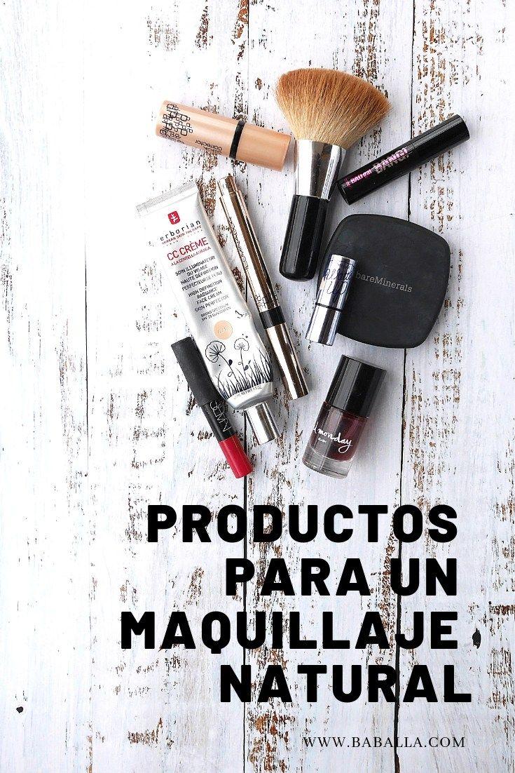 Productos para un maquillaje natural