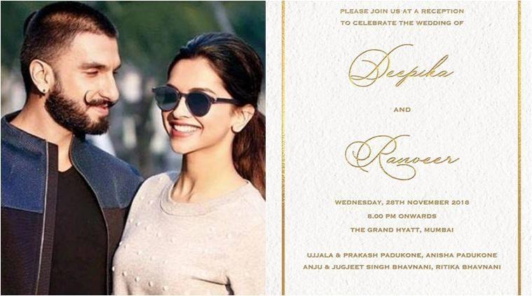 Deepika Padukone And Ranveer Singh To Host Wedding Reception In Mumbai Ranveer Singh Deepika Ranveer Deepika Padukone