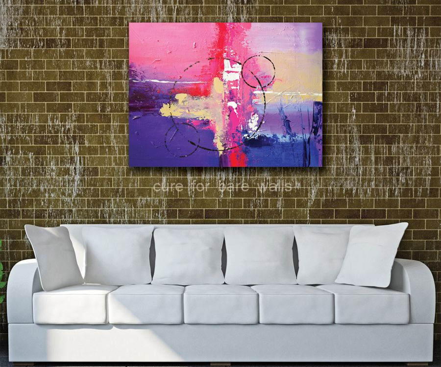 Pink Purple Abstract Art - Limited Edition Giclee Print by LaTanya Renee