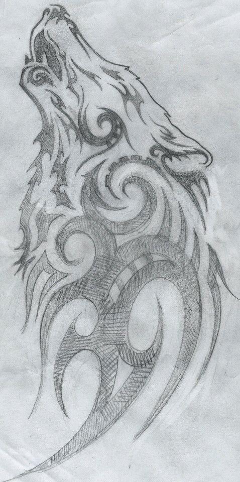 De Karl Dibujos Tribales Como Dibujar Un Lobo Mejor Dibujo