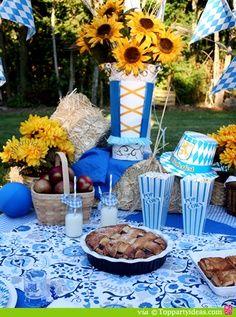oktoberfest table setting oktoberfest pinterest oktoberfest rh pinterest com Oktoberfest Table Decorations Centerpieces Oktoberfest Party Decorations