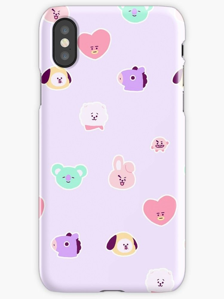 'bt21 pastel pattern' iPhone Case by muchosmochis Pastel