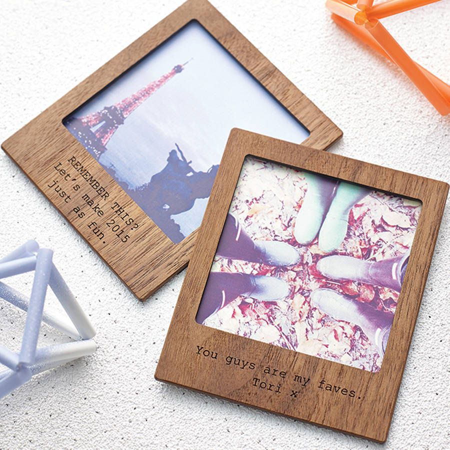 personalised polaroid magnetic picture frame by made lovingly made notonthehighstreetcom