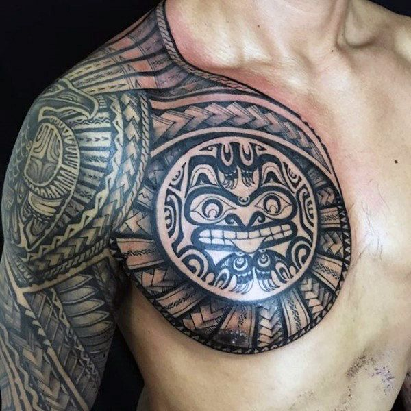 Image Result For African Neck Symbols For Mens African Tribal Tattoos Tribal Shoulder Tattoos Hawaiian Tattoo