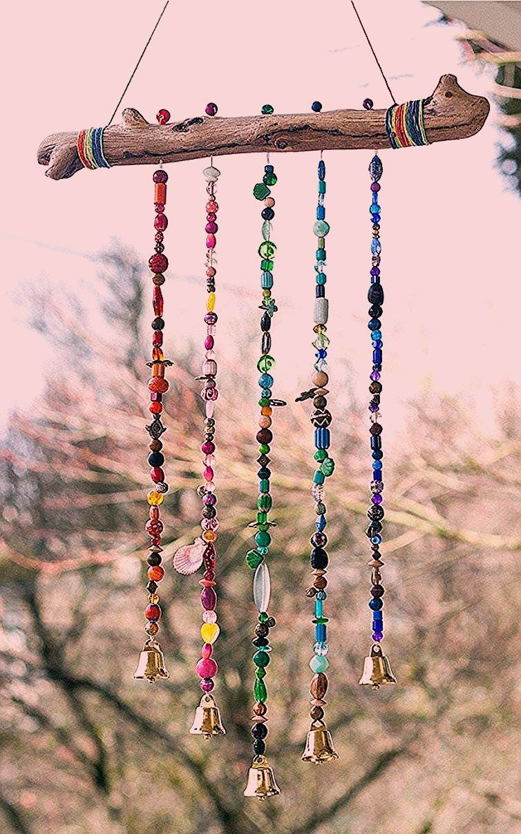 Photo of Add Sparkle to the Garden With This Beautiful Beaded Wind Chime