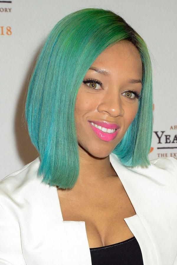 lil mama blue green hair beauty