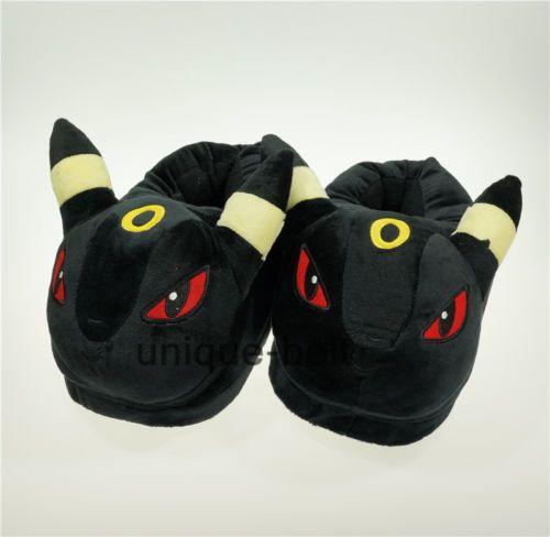 Nuevos-Pokemon-Zapatillas-Umbreon-Cosplay-Para-Adulto-De-Peluche-Juguete-Zapatos-interior-Zapatillas