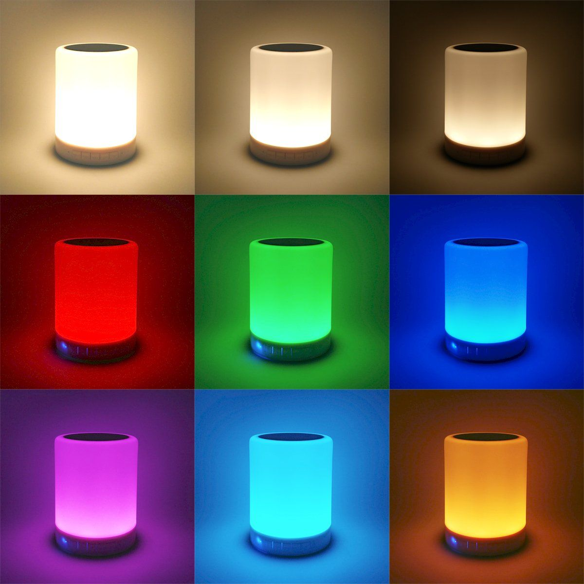 Zhoppy Night Light Bluetooth Speakers Touch Control Bedside Lamp Portable Table Lamp Color Led Outdoor Speaker Light Music Led Color Bedside Lamp Night Light