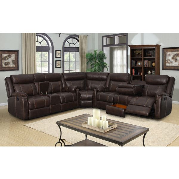 7 Pc Jackson Collection Brown Leather Gel Upholstery With Recliner 160 Via Polyvore Featuring Home Furniture S Fabric