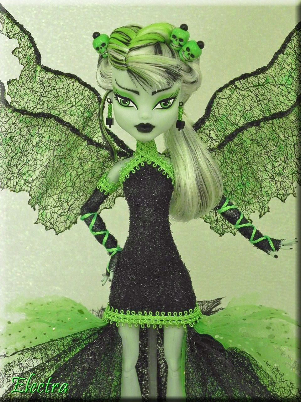 Electra~ Vibrant & Unique Custom OOAK Monster High Frankie Stein ...