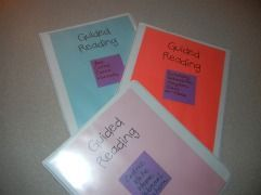 Reading - great idea for organizing guided reading groups and lessons