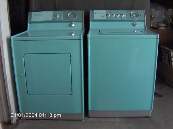 Holy Grail 1965 Turquoise Aqua Frigidaire Washer Dryer Florida Vintage Washing Machine Vintage Laundry Vintage Appliances