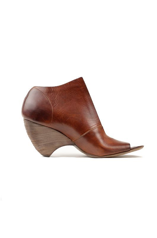 Marséll Open Toe Wedge with Top Plunge in Rust » Shoes » Wedges » Santa Fe Dry Goods | Clothing and accessories from designers including Issey Miyake, Rundholz, Yoshi Yoshi, Annette Görtz and Dries Van Noten