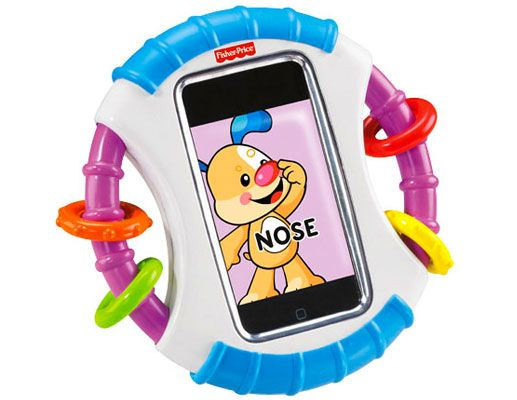 Well this is just about the coolest thing i've ever seen!!!  Fisher-Price Laugh & Learn Apptivity Case. Totally love this if you have an iphone/ipod and kids around you. Totally wish they made one for an android phone too :(