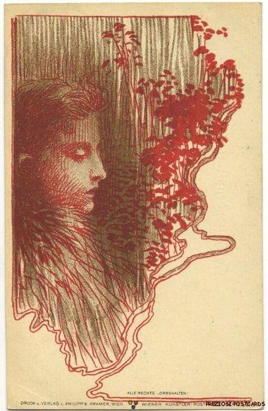 Philipp and Kramer postcard by Koloman Moser, ca.1898