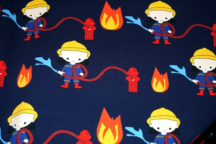 NB16 8430-009 Tricot brandweerman donkerblauw