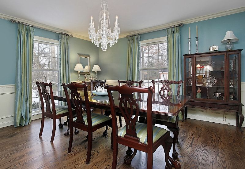 13 Window Treatment Ideas For Formal Dining Rooms Dining Room Window Treatments Dining Room Windows Dining Room Decor Traditional