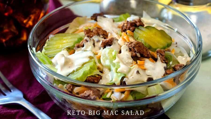 Keto Big Mac Salad   Low Carb Hamburger Salad Recipe