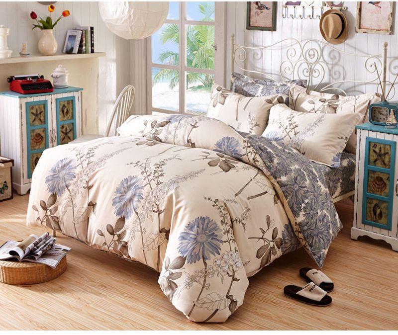 New Fashion Cheap Cotton Bedding Set Close Skin Cotton Bed