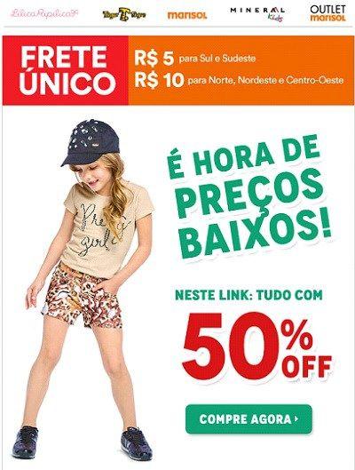 6ed54b898e Promoção Outlet Posthaus Marisol e outras marcas infantis Descontos ...