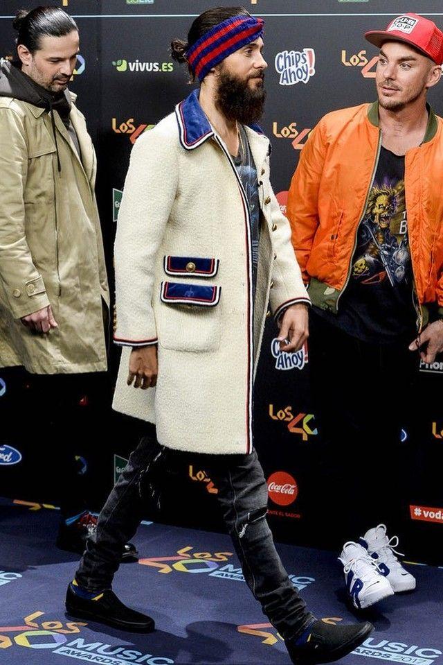 bf4c8fbaf26 Jared Leto wearing Gucci Wool Web Headband