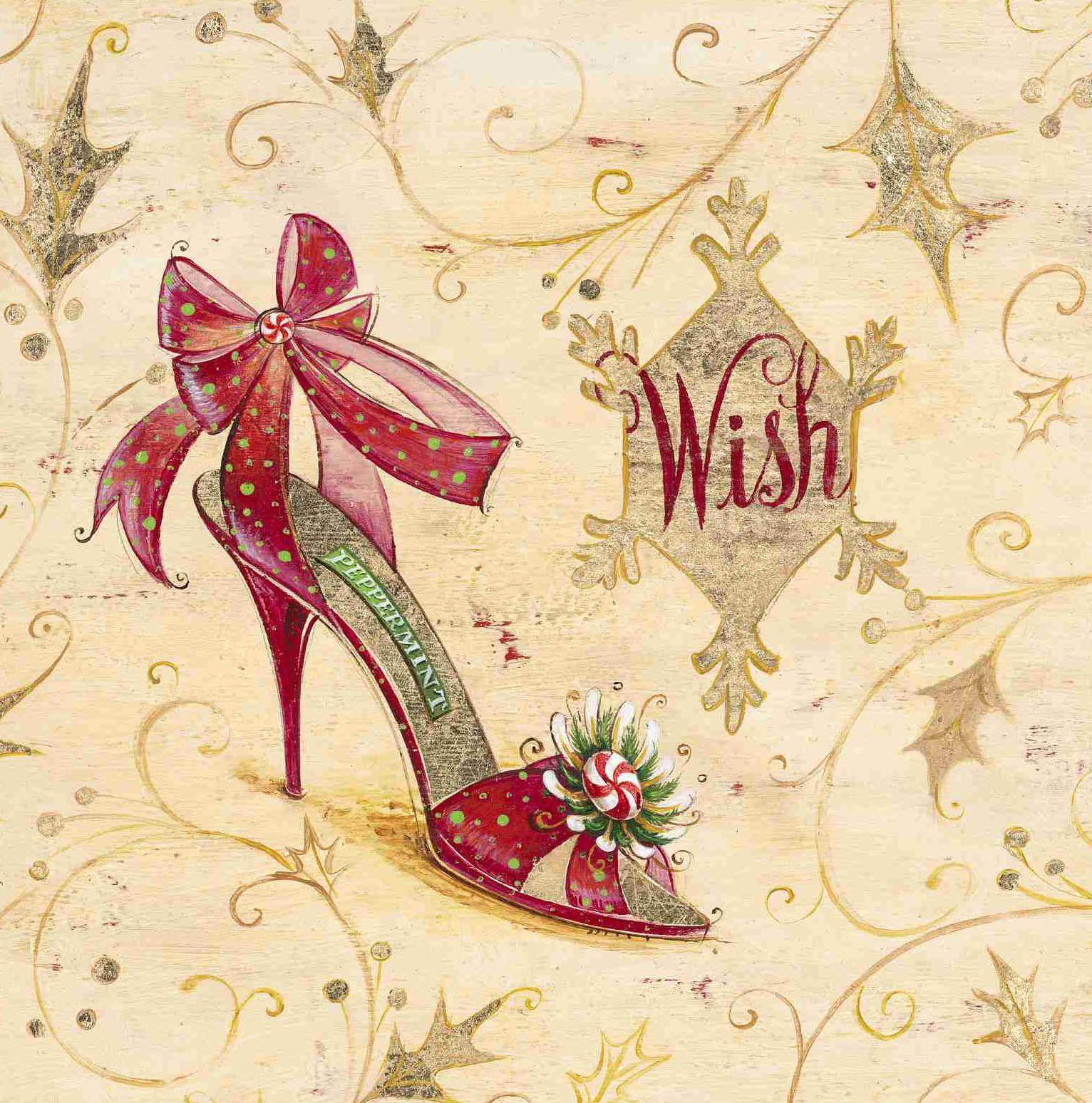 Wish seasonal shoe angela staehling cubiertas para - Laminas decorativas vintage ...