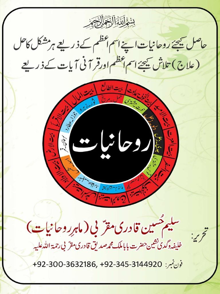 Rohaniyaat Is A Set Of Info Comprises Detailed Guidance On Relationship Between Divine And Humanity Through Spiritua Pdf Books Pdf Books Reading Free Pdf Books