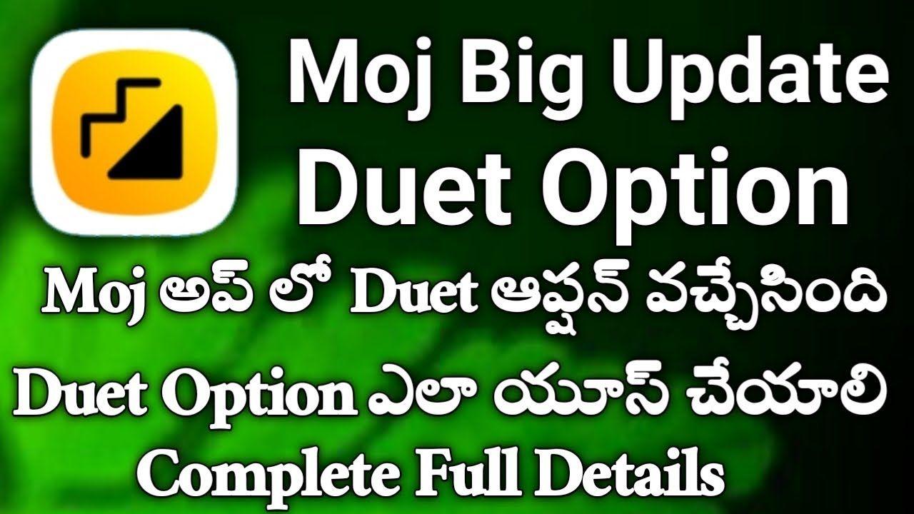 How To Duet On Moj Videos Duet On Moj Videos Moj App Big Update Duet Opt Duet App Videos