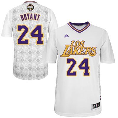 205e067bc7a adidas Kobe Bryant Los Angeles Lakers 2014 Noches Enebea Swingman Jersey -  White