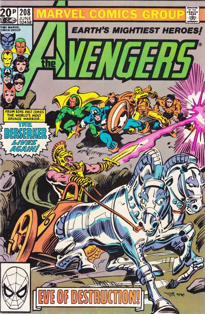 Cover for The Avengers (Marvel, 1963 series) #208 [Direct Edition]
