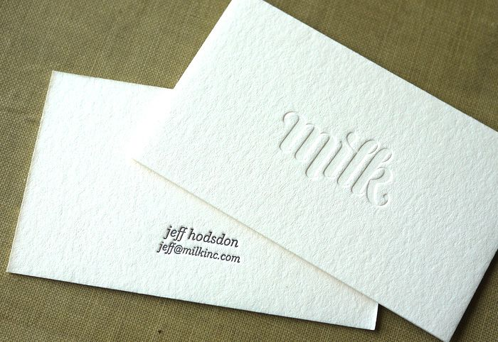12 of the Most Attractive Embossed Business Cards | Embossed business cards,  Debossed business card, Business card inspiration